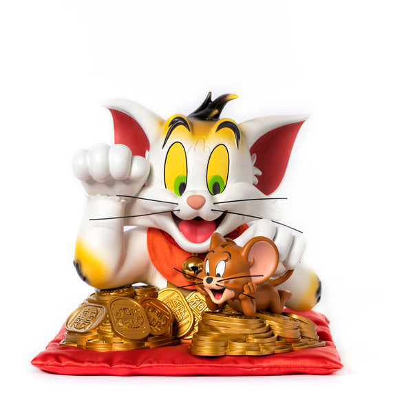 "Tom & Jerry Lucky Cat 9"" vinyl statue by ToyQube ToyQube Vinyl Art Toy Tenacious Toys®"