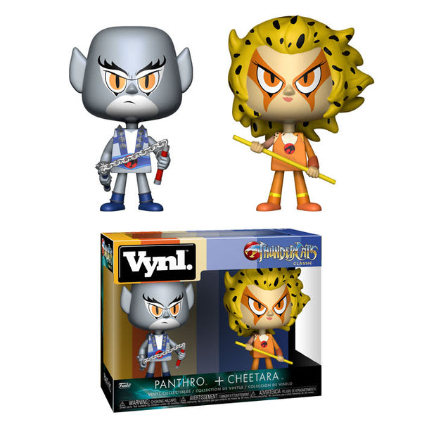 Funko Vynl ThunderCats Panthro & Cheetara Vinyl Collectible Toy 2-Pack