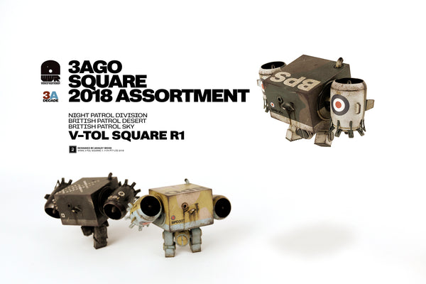 3AGO V-TOL 3-inch Square 3-piece set by ThreeA PREORDER 3A 3A Tenacious Toys®
