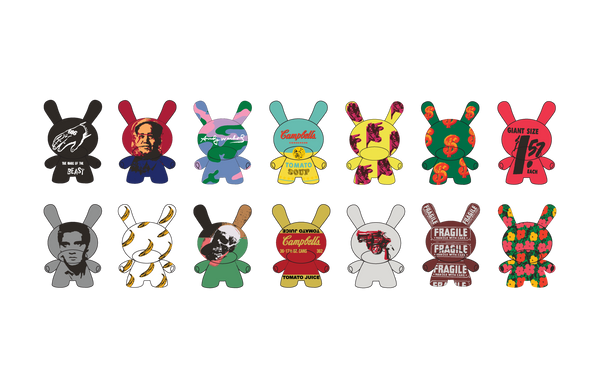 Kidrobot x Andy Warhol 3-inch Dunny Series 2 Case of 24 - Tenacious Toys®