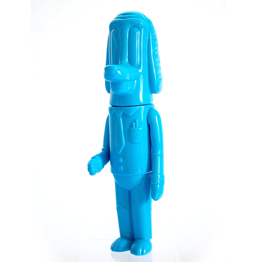 "Work Dog Exclusive Blue 7.5"" soft vinyl figure by Vincent Scala Vincent Scala Vinyl Art Toy Tenacious Toys®"