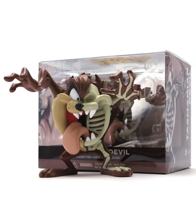 XXRAY Tasmanian Devil Taz Looney Tunes 4-inch PVC figure by Jason Freeny & Mighty Jaxx MightyJaxx Vinyl Art Toy Tenacious Toys®