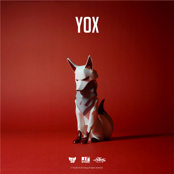 YOX Red 11cm sofubi vinyl figure by JT Studio