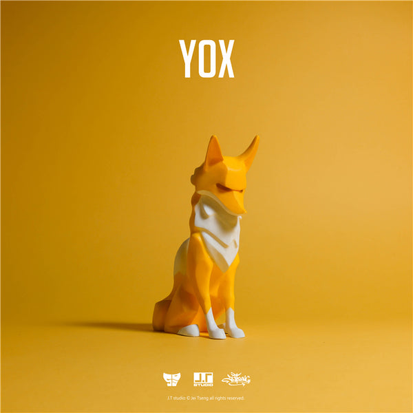 YOX Yellow 11cm sofubi vinyl figure by JT Studio
