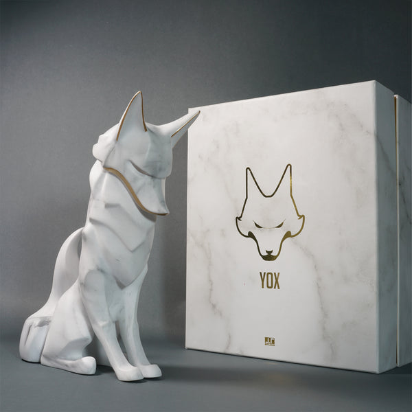 YOX 200% Marble Edition 22cm soft vinyl figure by JT Studio