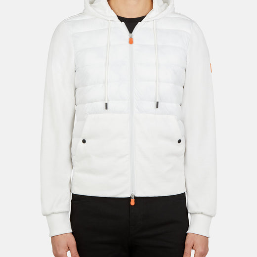 CONNOR:Veste à capuche Save The Duck pour homme en GIFE en blanc cassé