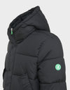 Mens WARM Hooded Parka in Black