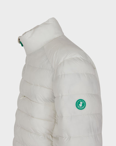 Mens RECY Quilted Jacket in Off White