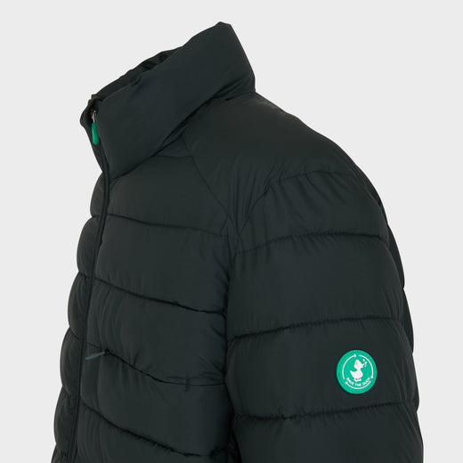 Mens RECY Quilted Jacket in Green Black