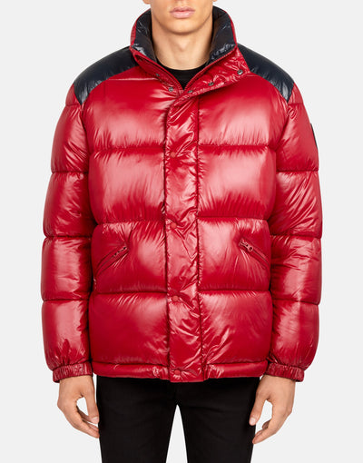 Men's Glossy Puffer Jacket in LUCK