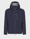 Mens GRIN Hooded Jacket in Navy Blue