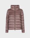 Womens IRIS Raised Collar Jacket in Misty Rose