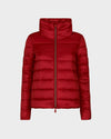 Womens IRIS Raised Collar Jacket in Tango Red