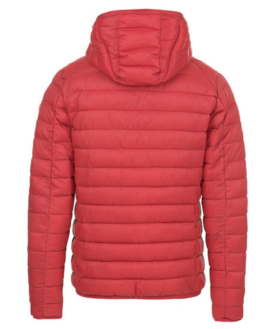 Men's Lightweight Hooded Jacket in Tango Red