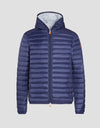 Men's GIGA Hooded Puffer Jacket in Ocean Blue