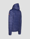 Men's GIGA Hooded Puffer Jacket in Midnight Blue