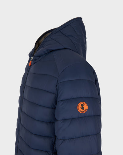 Mens GIGA Hooded Jacket in Navy Blue