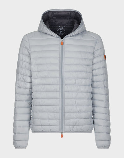 Mens GIGA Hooded Jacket in Opal Grey