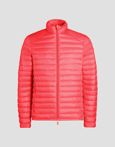 Mens GIGA Puffer Jacket in Tomato Red
