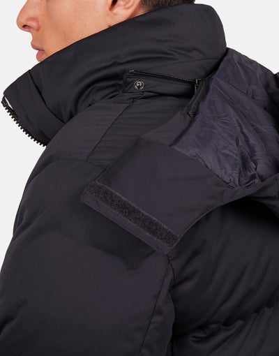 Save The Duck Men's Bark Quilted Puffer Jacket with Detachable Hood