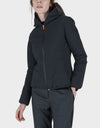 Womens MATT Reversible Hooded Jacket in Grey Black