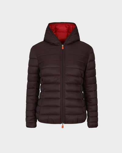 WOMEN'S GIGA QUILTED JACKET in Burgundy Black