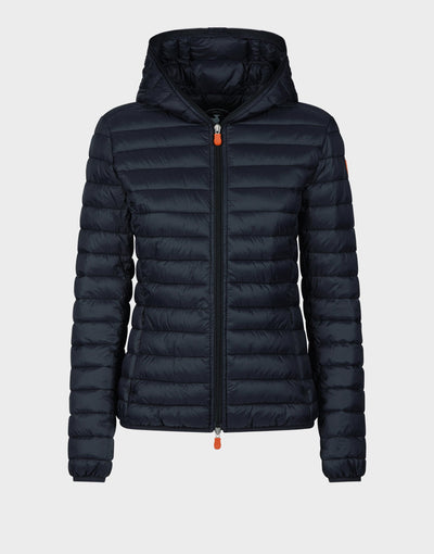 Womens GIGA Hooded Jacket in Black
