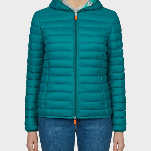 Womens GIGA Jacket in Seaweed Green.-Barc.Sf.Verd