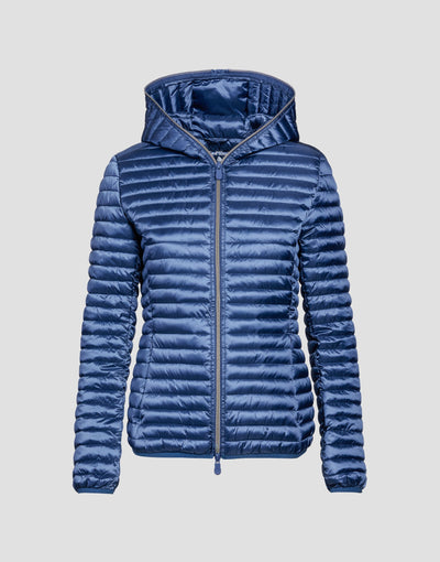 Women's IRIS Hooded Puffer Jacket in Space Blue