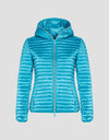 Women's IRIS Hooded Puffer Jacket in Hawaiian Blue