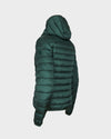 Womens IRIS Hooded Jacket in Moss Green