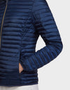 Womens IRIS Hooded Jacket in Navy Blue