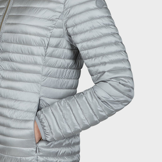 Womens IRIS Hooded Jacket In Silver