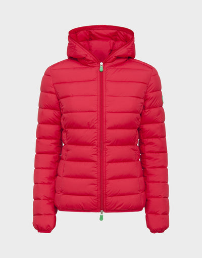 Womens RECY Hooded Jacket in Tango Red