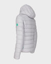 Womens RECY Hooded Jacket in Frozen Grey