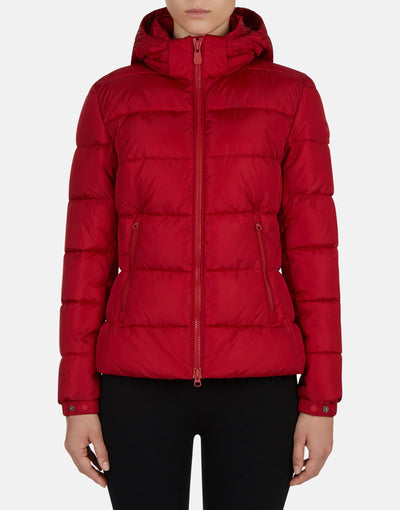 Save The Duck Women's MEGA Sporty-Look Hooded Jacket
