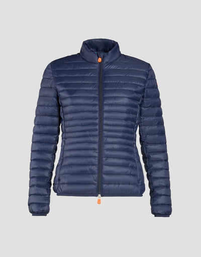 Save The Duck Womens Jacket-S3597W-GIGA6-09 Navy Blue