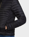 Womens IRIS Puffer Jacket in Black