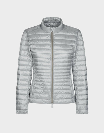 Womens IRIS Puffer Jacket in Silver