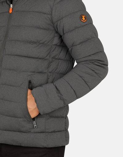 Save The Duck Men's ANGY Stretch Hooded Puffer Jacket