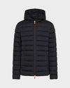 MENS SOLD HOODED JACKET IN Blue Black