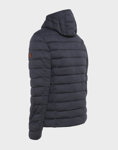 Mens SOLD Hooded Jacket in Grey Black