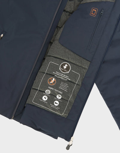 MENS SMEG WINTER HOODED JACKET IN Navy Blue