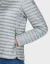 Womens IRIS Sporty Puffer Jacket in Silver