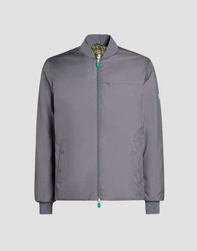 Save The Duck Mens Jacket-S3687M-RECY6-15 Mid Grey