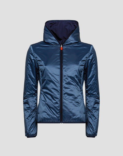 Womens MATY Hooded Jacket in Navy Blue
