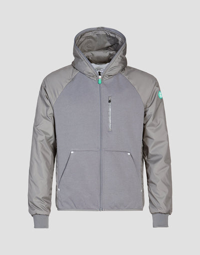Save The Duck Mens Hooded Jacket-S3716M-FEEL6-15 Mid Grey