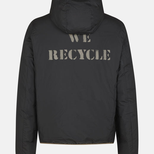 Mens Hooded Reversible Jacket in RECY from Recycled Bottles