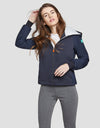 Womens FEEL Hooded Jacket in Blue Black
