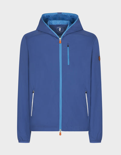 Mens MATY Hooded Jacket in Snorkel Blue